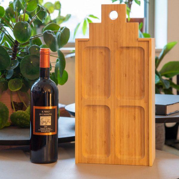 бамбукова дъска, кутия за вино